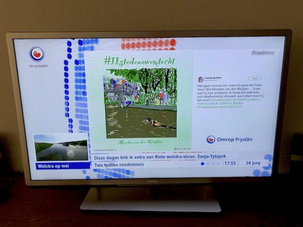 Screenshot live uitzending Omrop Fryslân
